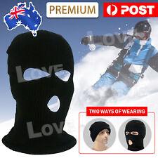 3 Holes Black Balaclava SAS Style Mask Neck Warmer Ski Hat Paintball Fishing