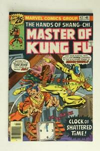 Bronze MARVEL Comic Book MASTER OF KUNG FU Hands of Shang Chi 42 July