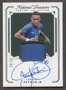 2018 National Treasures Soccer Neymar Jr. Brazil #CC-N Jersey AUTO 20/20