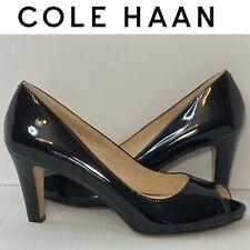 Cole haan Black Leather Open Toe Heels Size 6