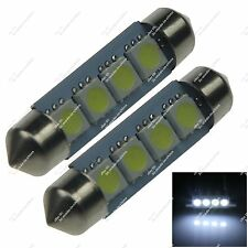 2X 41MM 42MM 6429 4 SMD 5050 LED Festoon Dome Interior Light Bulb Auto Z20011