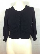 XOXO Black Crop Sweater Cardigan Black Large Junior Miss L