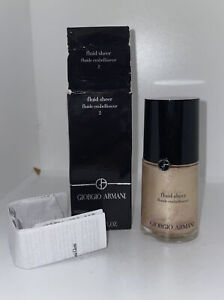 Giorgio Armani Fluid Sheer Fluide Embellisseur Shade 2 1oz New In Box As Pict