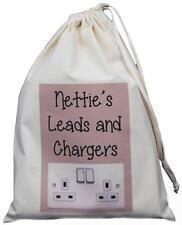 Personalizado-conduce y Cargadores Bolso de lazo-Pequeño Algodón Natural Beige