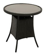Beistelltisch Bistrotisch Kaffeetisch Gartenmöbel Rattantisch VARESE 60cm rund