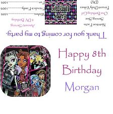 Monster High Candy Bar Wrappers/Birthday Party Favors