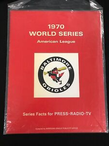 1970 World Series Baltimore Orioles Media Guide - EXMT
