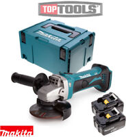 Makita DGA452Z 18v 115mm LXT Angle Grinder With 2 x 3Ah Batteries, Case & Inlay