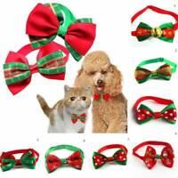Cute Christmas Dog Cat Pet Puppy Bowknot Necktie Collar Bow Tie Clothes Decer