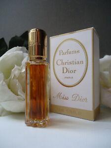 Miss Dior PARFUM 7.5ml New Vintage 1976 Rare Fawn , Gold & White Near Mint Box