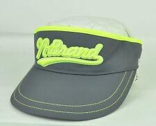 N Brand Q-Max Adjustable Sun Buckle Visor Curved Bill Grey Yellow Hat Cap