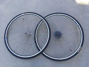 Coppia ruote Nisi HR 32 HR32 hubset Campagnolo Chorus vintage cerchi bici corsa