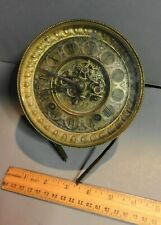 Antique 1800'S Ansonia Clock Movement / Face For Parts Repair W Glass Door
