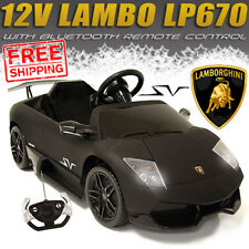 BLACK LICENSED LAMBORGHINI MURCEILAGO Electric 12v Kids Ride on Car Toy + REMOTE
