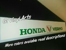 Honda Verno Decals Stickers Windshield Banners Sun Strip Visor banner Jdm