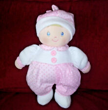 Baby Gund DOTTIE DOLLY Pink & White with Polka Dots 12in Plush Soft Doll 58059