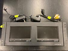 LCD4VIDEO Dual 7inch monitor HDMI, VGA 19inch Rack