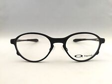 New Authentic Oakley Overlord Satin Titanium 5067-0251 Eyeglasses RX with Case