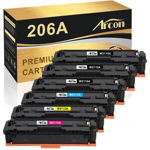 6x Color Toner Compatible for HP 206A W2110A LaserJet Pro M255dw M283fdw M283cdw