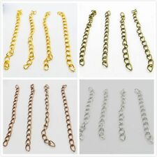 50pcs Extension Jewelry Chains Tail Extender Necklace Bracelet Jewelry Findings