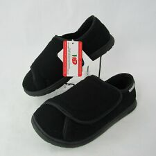 Dr. Scholl's Size 5-6 Wide Flannery Therapeutic Slippers Shoes Black Womens New