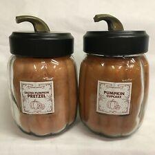 Goose Creek (2) PUMPKIN CUPCAKE & SALTED PUMPKIN PRETZEL Pumpkin Jar Candles