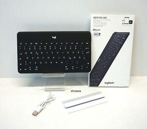 Logitech Keys-To-Go QWERTZ  iOS DE Tablet Tastatur schwarz