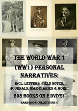 WORLD WAR 1 PERSONAL LETTERS DIARIES RECORDS - 398 BOOKS 2 DVDs - MEDAL RESEARCH