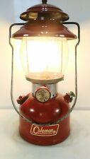 Vintage Coleman 200A Red Single Mantle Lantern September 1964
