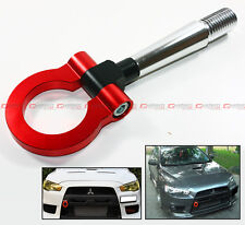 08-2014 LANCER EVO X 10 MR RED FRONT/REAR FOLDING SCREW ON STYLE RACING TOW HOOK