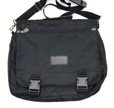 Leeds Black Messenger Bag Laptop Carrying Case