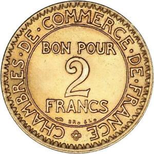 Monnaie Bon pour 2 francs Commerce et industrie 1923