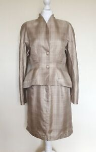 Vintage Thierry Mugler Silk Jacket & Skirt Suit 42
