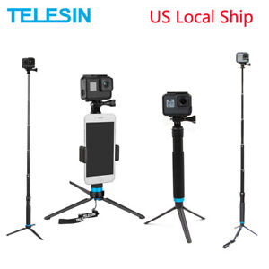 TELESIN 35'' Extendable Aluminum Alloy Selfie Stick Tripod For GoPro Osmo Action