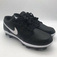 Nike Air Jordan 1 Retro MCS Low Black Baseball Cleats CJ8524-001 Men's Size 10.5