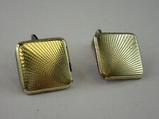 J589 ⭐⭐Designer Cufflinks Modernist Silver with Goldfront - Cufflinks ⭐⭐