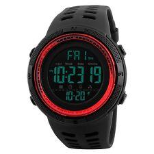 New Men LED Digital Alarm Sport Watch Silicone Military Army Quartz Wristwatch