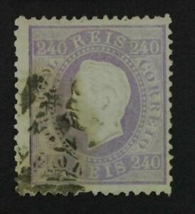 MOMEN: PORTUGAL SC #49 1873 USED $1,050 LOT #4017