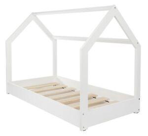 Kinderbett Hausbett Spielbett Einzelbett skandinavisches Design 190x90cm