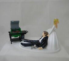 Wedding Party Reception BBQ Grill Cook-Out Redneck Beer Cans Cake Topper