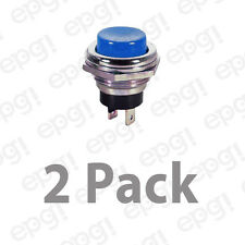 SPST (N/O) MOMENTARY ON BLUE PUSH BUTTON SWITCH 4AMPS @ 125VAC #66-2425-2PK