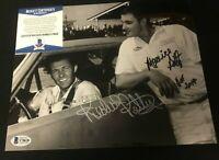 Richard Petty & Maurice Petty HOF 2014 Signed 8x10 Photo Autograph BAS Beckett