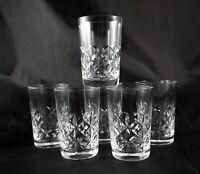 6 elegant vintage Lead Crystal whisky spirit tumblers glasses