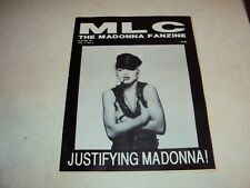 MADONNA MLC CANADIAN CANADA FANZINE MAGAZINE FAN CLUB WINTER 1990 VOL 4 NO 4