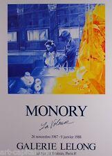 MONORY JACQUES AFFICHE PRODUITE EN 1987 FOND LELONG FIGURATION NARRATIVE POSTER