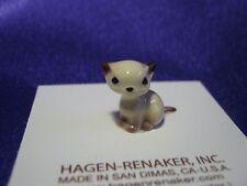 Hagen Renaker Sitting Kitten Figurine Miniature 00368 Porcelain Ceramic New