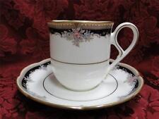 Noritake Palais Royal 9773 Cup and Saucer Set (s), Floral, Black w/Gold