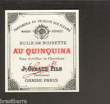 10 ETIQUETTES PARFUM : HUILE DE NOISETTE AU QUIQUINA de  J. GIRAUD