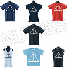 Deathly Hallows Harry Potter Inspired Mens Ladies Kids T-Shirt Vests S-XXL Sizes