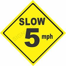 CAUTION DRIVE SLOW - 5MPH - NEW SIGN- ALL ALUMINUM -  ROAD SIGN - SAFETY SIGN -